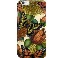 Flowers and Butterflies Pattern iPhone Case/Skin