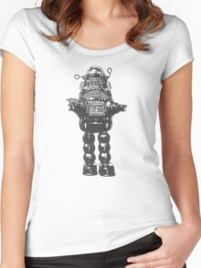 Forbidden Planet, Robot, Space, Science Fiction, Robby The Robot Women's Fitted Scoop T-Shirt