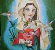 Madonna of the Hummingbirds by ZydecoChaCha