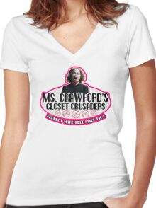 Mommie Dearest Closet Crusader Women's Fitted V-Neck T-Shirt