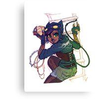 Selina Kyle Catwoman Punk Rocker Hipster Canvas Print