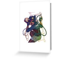 Selina Kyle Catwoman Punk Rocker Hipster Greeting Card