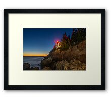Bass Harbor Head Lighthouse Framed Print