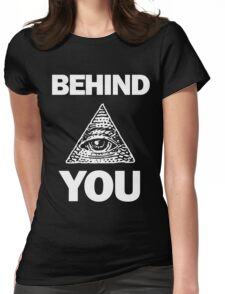 Illuminati - Behind You Womens Fitted T-Shirt