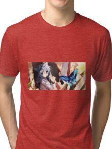 Cute kawaii anime girl Tri-blend T-Shirt