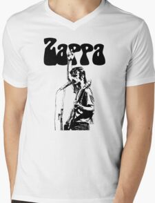 Frank Zappa givin' the finger Mens V-Neck T-Shirt
