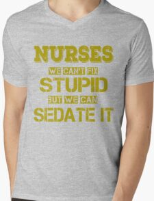 Nurses Mens V-Neck T-Shirt