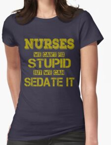 Nurses Womens Fitted T-Shirt