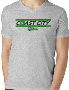 The Coast City Angels Mens V-Neck T-Shirt