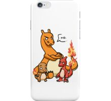 charmandar,charmeleon and charazard iPhone Case/Skin