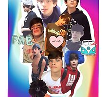 Hayes Grier Collage Phone Case by mackenzieannn