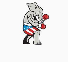 Elephant Mascot Boxer Boxing Side Cartoon Unisex T-Shirt