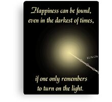 Harry Potter Happiness Quote Canvas Print