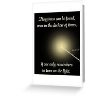 Harry Potter Happiness Quote Greeting Card