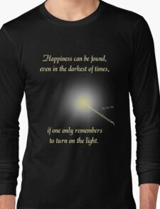 Harry Potter Happiness Quote Long Sleeve T-Shirt