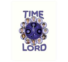 TIme Lord (blue version) Art Print