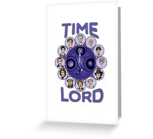 TIme Lord (blue version) Greeting Card