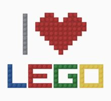 I love Lego - Multicolour Version by glucern