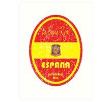Euro 2016 Football - Espana Art Print