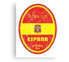 Euro 2016 Football - Espana Canvas Print