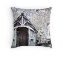 Domesday Church Throw Pillow