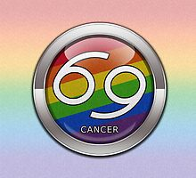 Cancer - LGBT Pride Rainbow  by LiveLoudGraphic