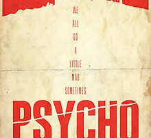 Madness - Psycho Poster by edwardjmoran