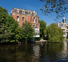 Amsterdam Canal Mansions - Floating By on a Boat by Georgia Mizuleva
