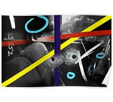 Bullet Hole Color Swatch Poster