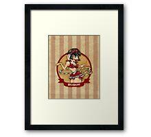 Cirque D'Burlesque: The Hula Hooper Framed Print