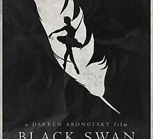 Perfection - Black Swan Poster by edwardjmoran
