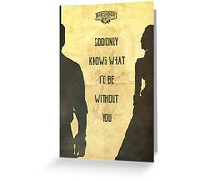 God Only Knows - Bioshock: Infinite Poster Greeting Card