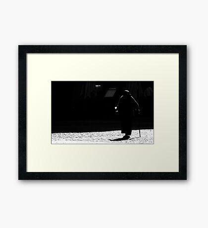 The Light in Madrid Framed Print