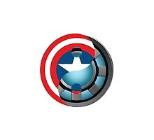 Arc Reactor/ Captain America Shield Yin Yang by ZWinchester