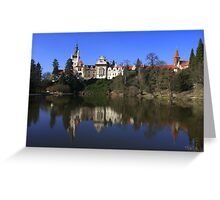 Pruhonice Castle with mirror image Greeting Card