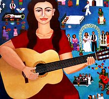 "Violeta Parra  and the song ""Black wedding"" II by Madalena Lobao-Tello"