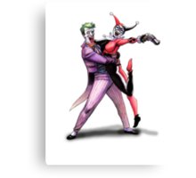 Joker & Quinn in bad love Canvas Print
