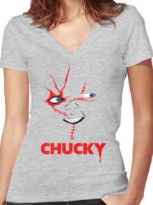 Chucky Women's Fitted V-Neck T-Shirt
