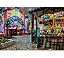 """The Island"" Carousel & Arcade Photographic Print"