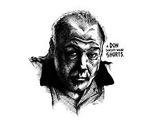 A don with Shorts - the Sopranos Photographic Print