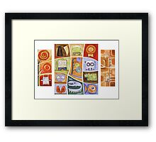 Puzzle Painting All of Us Framed Print