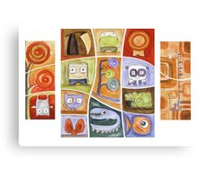 Puzzle Painting All of Us Canvas Print