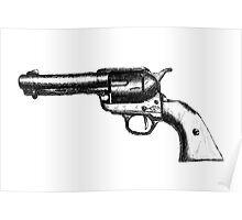 Sketchy Revolver Poster