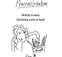 Procrastination: Choosing a pen by CARDSFORWRITERS