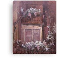 Oil Painting The old house Canvas Print