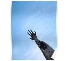 rising hand Poster