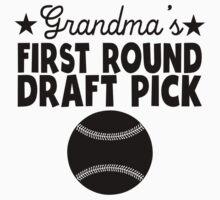 Grandma's First Round Draft Pick Baseball One Piece - Short Sleeve