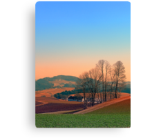 Trees, panorama and sunset | landscape photography Canvas Print