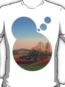 Trees, panorama and sunset | landscape photography T-Shirt