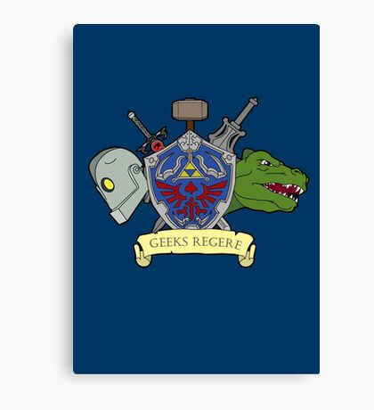 Geeks Rule Pocket Motif Canvas Print